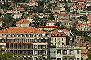 Houses on a hillside in Dubrovnik in southern Croatia
