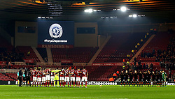 Middlesbrough and Hull City observe a minutes silence for Chaperoense who lost players and officials in a plane crash - Mandatory by-line: Robbie Stephenson/JMP - 05/12/2016 - FOOTBALL - Riverside Stadium - Middlesbrough, England - Middlesbrough v Hull City - Premier League