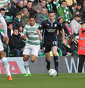 Dundee's Paul McGinn and Celtic's Emilio Izaguirre -  Celtic v Dundee - SPFL Premiership at Celtic Park<br /> <br /> <br />  - © David Young - www.davidyoungphoto.co.uk - email: davidyoungphoto@gmail.com