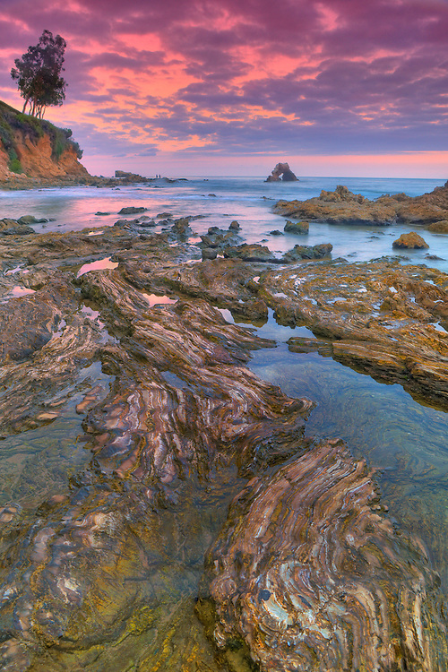 Corona Del Mar - Arch Rock And Tide Pools - Sunset - HDR