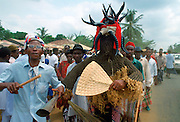 Tribal dancer at a festival in Cameroon, Africa