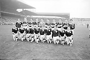 All Ireland Senior Football Final, 22nd September, 1963.Dublin V Galway. The Galway Team defeated by Dublin.Back Row Left to right S. Leyden, M. McDonagh, N. Tierney, M. MacReynolds, M. Moore, E. Colleran and S. Meade,( People  nine and ten from left unidentified).Front Row Left to Right S. Donnellan, C. Dunne, J. Keenan,  B. Geraghty, M. Garrett Captain, S. B. McDermott, P. Donnellan, M. Newell, (people nine and ten unidentified. from left)..Substitutes: T. Farrell, S. Brennan, J. Keeley, B. Geraghty ..22.09.1963  22nd September 1963Dublin.1-9.Galway.0-10..P. Flynn, L. Hickey, L. Foley, W. Casey, D. McKane, P. Holden, M. Kissane, D. Foley (Captain), John Timmons, B. McDonald, Mickie Whelan, G. Davey, S. Behan, D. Ferguson, N. Fox..Sub: P. Downey for P. Holden..D. Foley (Captain).