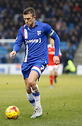 Gillingham midfielder Doug Loft during the Sky Bet League 1 match between Gillingham and Barnsley at the MEMS Priestfield Stadium, Gillingham, England on 13 February 2016. Photo by Andy Walter.