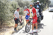 Rudy Molard (FRA - Groupama - FDJ) red jersey, Antonie Duchesne (CAN - Groupama - FDJ), during the UCI World Tour, Tour of Spain (Vuelta) 2018, Stage 9, Talavera de la Reina - La Covatilla 200,8 km in Spain, on September 3rd, 2018 - Photo Luis Angel Gomez / BettiniPhoto / ProSportsImages / DPPI