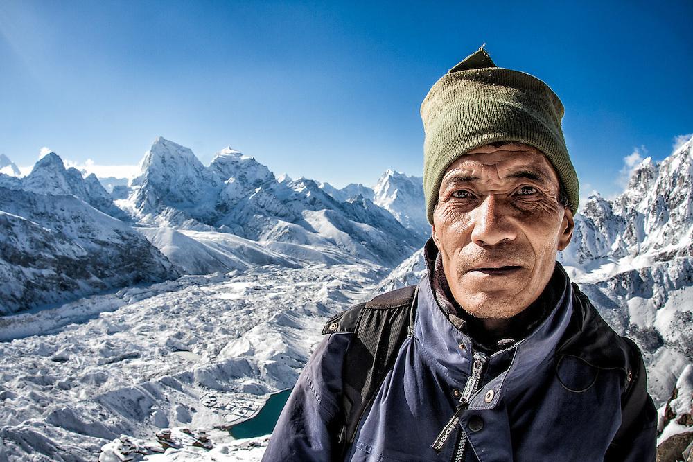 NEPAL. Everest Region, Gokyo Ri. May 8th, 2012. A Sherpa guide.