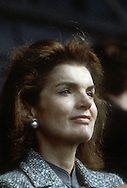 A 29 MG IMAGE OF:.Jackie Kennedy at the opening of the JF K library in October of  1979...Photo by Dennis Brack  f b 1