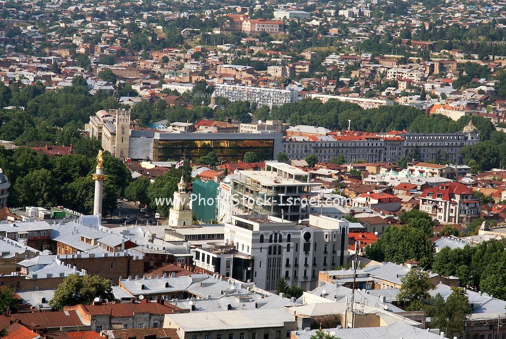 Georgia, Tbilisi, view of the city and Kura (Mtkvari) river