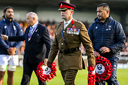 Act of Remembrance before kick off - Rogan/JMP - 10/11/2019 - RUGBY UNION - Sandy Park - Exeter, England - Exeter Chiefs v Bristol Bears - Gallagher Premiership.