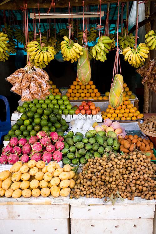 Fresh fruit Market Stall Cambodia Asia