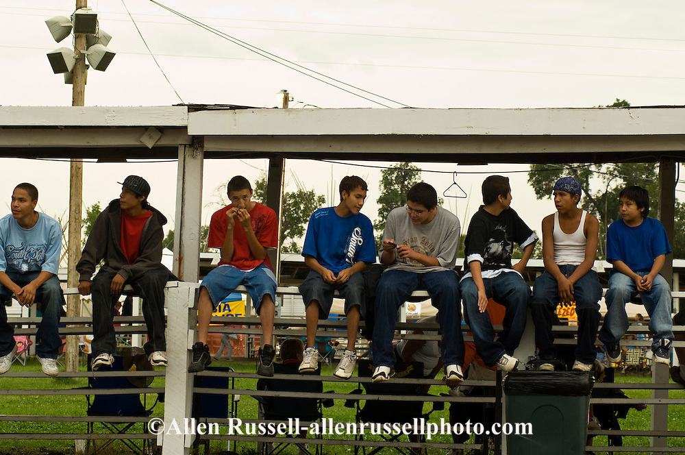 Crow Indian teenagers at Crow Fair, Crow Indian Reservation, Montana