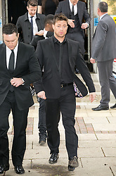 In the image -  Duncan James.<br /> Blue Star Duncan James with Lee Ryan and other members of the band arrive at Ealing Magistrates Court. The Blue Star and celebrity Big Brother contestant Lee Ryan arrives at Ealing Magistrates Court, Ealing, United Kingdom. Friday, 2nd May 2014. Picture by Daniel Leal-Olivas / i-Images