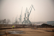 Industry in the Port of Belgrade which is situated on the Danube River in Belgrade...Matt Lutton for the Financial Times.