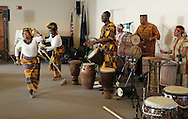 Middletown, New York  - Maxwell Kofi Donkor and the Sankofa Drum and Dance Ensemble perform traditional African music at Thrall Library on Feb. 26, 2012.