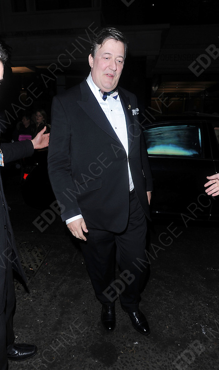 12.FEBRUARY.2012. LONDON<br /> <br /> STEPHEN FRY AT THE WEINSTEIN COMPANY AND ENTERTAINMENT FILM DISTRIBUTION POST BAFTA EVENT AT THE LE BARON, EMBASSY CLUB, LONDON<br /> <br /> BYLINE: EDBIMAGEARCHIVE.COM<br /> <br /> *THIS IMAGE IS STRICTLY FOR UK NEWSPAPERS AND MAGAZINES ONLY*<br /> *FOR WORLD WIDE SALES AND WEB USE PLEASE CONTACT EDBIMAGEARCHIVE - 0208 954 5968*