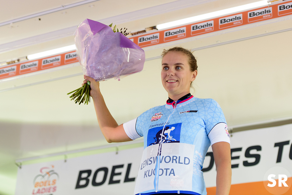 Winanda Spoor keeps the sprint jersey at Boels Rental Ladies Tour Stage 4 a 121.4 km road race from Gennep to Weert, Netherlands on September 1, 2017. (Photo by Sean Robinson/Velofocus)