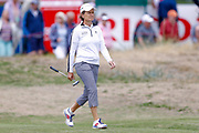 Catrina Mathew  walks onto the second green during the Ricoh Women's British Open golf tournament at Royal Lytham and St Annes Golf Club, Lytham Saint Annes, United Kingdom on 4 August 2018. Picture by Simon Davies.
