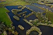 Nederland, Gelderland, Arnhem, 03-10-2010; kleiputten in Meinerswijk, linksboven het regelwerk  (doorlaatwerk met schuiven), wat onderdeel van de voormalige IJssellinie. .Meinerswijk, clay pits, at the the top the control works (operating with slides) part of the former IJssel defense line..luchtfoto (toeslag), aerial photo (additional fee required) foto/photo Siebe Swart