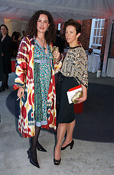 Left to right, CELIA FORNER VENTURI and VICTORIA FERNANDEZ at a party to celebrate the opening of Roger Vivier in London held at The Orangery, Kensington Palace, London on 10th May 2006.<br />