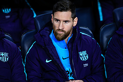February 6, 2019 - Barcelona, BARCELONA, Spain - 10 Leo Messi of FC Barcelona during the semi-final first leg of Spanish King Cup / Copa del Rey football match between FC Barcelona and Real Madrid on 04 of February of 2019 at Camp Nou stadium in Barcelona, Spain (Credit Image: © AFP7 via ZUMA Wire)