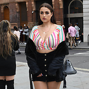 Fashionista attend Fashion Scout - SS19 - London Fashion Week - Day 2, London, UK. 15 September 2018.