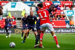 Callum O'Dowda of Bristol City is fouled by Joshua Onomah of Sheffield Wednesday - Mandatory by-line: Ryan Hiscott/JMP - 07/10/2018 - FOOTBALL - Ashton Gate Stadium - Bristol, England - Bristol City v Sheffield Wednesday - Sky Bet Championship
