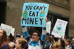 May 24, 2019 - Toronto, Ontario, Canada - Hundreds of Canadian children and youth took part in a massive protest march against climate change in Toronto, Ontario, Canada, on May 24, 2019. Youth around the world declared May 24th as an international climate strike day. (Credit Image: © Creative Touch Imaging Ltd/NurPhoto via ZUMA Press)
