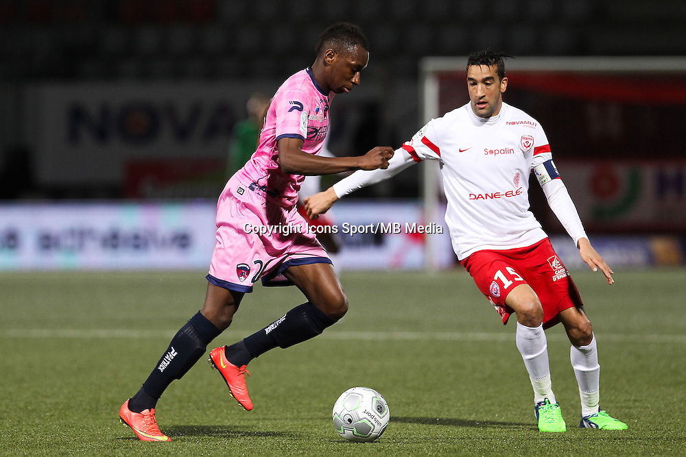 Brandon AGOUNON / Youssouf HADJI - 19.12.2014 - Nancy / Clermont - 18e journee Ligue 2<br />Photo : Fred Marvaux / Icon Sport