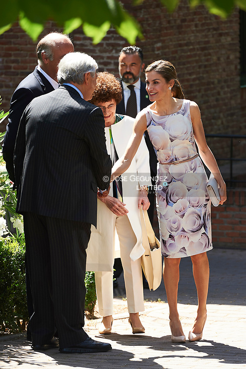 Queen Letizia of Spain attends the annual meeting of the board of the student residence at Residencia de Estudiantes on June 14, 2017 in Madrid.