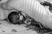Bea Ahbeck/Fremont Argus<br /> <br /> A premature baby receives oxygen in the preemie ward at Mulago Hospital in Kampala, Uganda, Nov. 7, 2005. The babies are called by their mother's names until they are baptized.