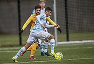 FODBOLD: Adnan Mohammad (FC Helsingør) under træningskampen mellem FC Helsingør og Falkenbergs FF den 20. januar 2018 på Snekkersten Idrætscenter. Foto: Claus Birch