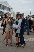 GABBI JOHN; LAKEN JOHN;  ASHLEY JOHN, The Cheltenham Festival Ladies Day. Cheltenham Spa. 11 March 2015