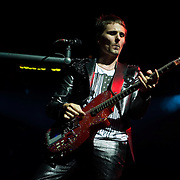 Matt Bellamy of Muse performs at Live 105's Not So Silent Night at Oracle Arena in Oakland California USA on December 11 2009. Image available for editorial licensing only.