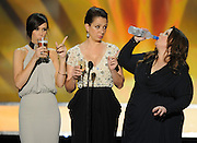 "Kristen Wiig, Maya Rudolph and Melissa McCarthy play a drinking game, taking a slug everytime somebody says ""Scorsese."" The 18th Annual Screen Actors Guild Awards were held at the Shrine Exposition Center in Los Angeles, CA 1/29/2012(John McCoy/Staff Photographer)"