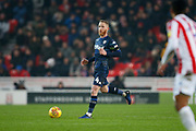 Leeds United midfielder Adam Forshaw (4)  during the EFL Sky Bet Championship match between Stoke City and Leeds United at the Bet365 Stadium, Stoke-on-Trent, England on 19 January 2019.
