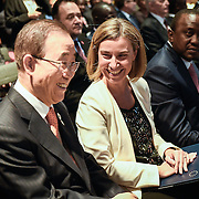 20160615 - Brussels , Belgium - 2016 June 15th - European Development Days - Opening Ceremony - Federica Mogherini - High Representative of the European Union for Foreign Affairs and Security Policy and Vice-President of the European Commission and Ban Ki-Moon - Secretary General, United Nations © European Union
