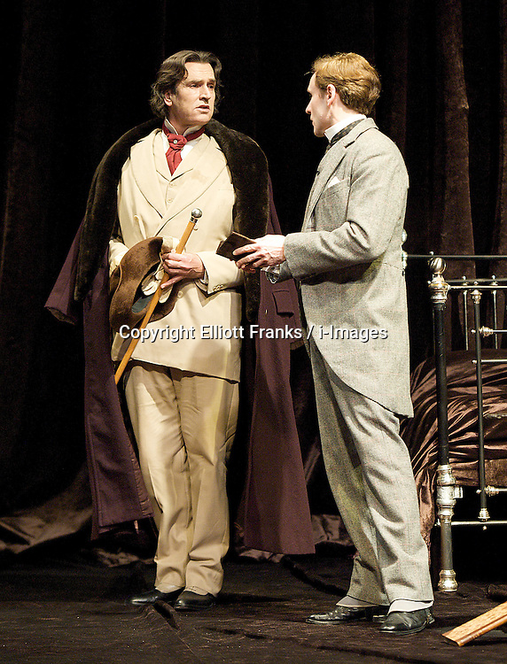The Judas Kiss, the Duke of York's Theatre, London, Great Britain..Rupert Everett as Oscar Wilde..Cal MacAninch as Robert Ross, January 18, 2013. Photo by Elliott Franks / i-Images. .