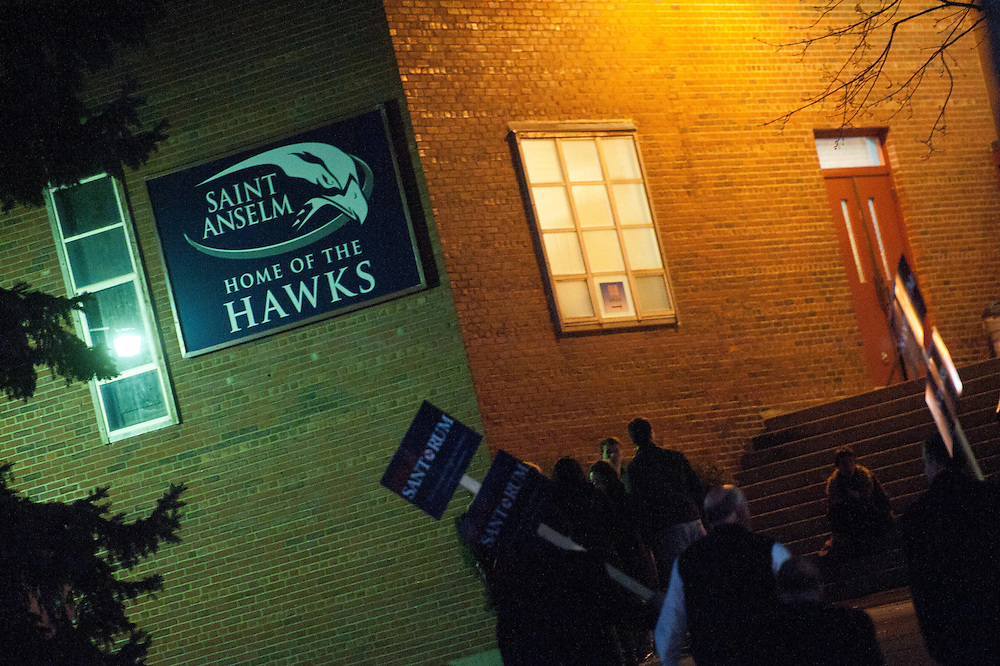 Jan. 7th, 2012 - Manchester, NH - Saint Anselm College, Home of the Hawks, hosts the ABC Republican Presidential Debate.