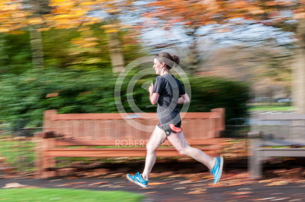 November, 2014 Glasgow. Action from Victoria Park parkrun, 1 November 2014 at Victoria Park in Glasgow, Great Britain. Photo: Paul J Roberts / RobertsSports Photo. All Rights Reserved