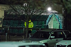 ©Licensed to London News Pictures 06/11/2019.<br /> Maidstone,UK. Maidstone hospital, Kent has set up a triage area and with a tent and lots of wheelchairs outside accident and emergency after a major chemical leak involving 57 people on a farm in Kent. Photo credit: Grant Falvey/LNP