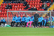 Forest Green Rovers manager, Mark Cooper watches on during the Vanarama National League match between Gateshead and Forest Green Rovers at Gateshead International Stadium, Gateshead, United Kingdom on 18 February 2017. Photo by Shane Healey.