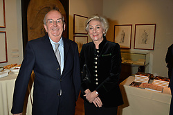 LONDON, ENGLAND 28 NOVEMBER 2016: Peter & Anne Verity at a reception to celebrate the publication of The Sovereign Artist by Christopher Le Brun and Wolf Burchard held at the Royal Academy of Art, Piccadilly, London, England. 28 November 2016.