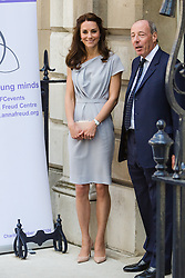 © Licensed to London News Pictures. 04/05/2016. LONDON, UK.  CATHERINE, DUCHESS OF CAMBRIDGE arrives at a lunch reception at the Anna Freud Centre in Spencer House. Kate attends as patron and in support of the children's mental health<br /> charity's new centre of excellence.  Photo credit: Vickie Flores/LNP
