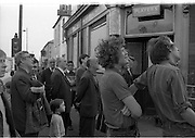 View of Belfast Barricades - Falls Rd, Clonard, 30/08/1969 bombay st, nationalists, homes burned, by British loyalists,