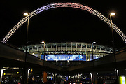 Wembley arch during the Europa League match between Tottenham Hotspur and KAA Gent at Wembley Stadium, London, England on 23 February 2017. Photo by Matthew Redman.
