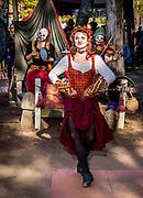 A fair maiden preforms a traditional Irish jig dance at the 2016 Carolina Renaissance Festival.