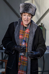 © Licensed to London News Pictures. 30/01/2019. London, UK. Conservative MP Caroline Spelman on College Green after giving media interviews. Her amendment to avoid a no deal Brexit, put forward with Labour MP Jack Dromey, was passed. Theresa May has said she will now return to Brussels to seek further concessions from the EU. Photo credit: Rob Pinney/LNP