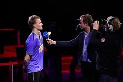 DK:<br /> 20190209, &Aring;rhus, Danmark:<br /> Badminton Danmark FZ Forza/RSL DM 2019. <br /> Here single: Steffen Rasmussen vs. Anders Antonsen.<br /> Guldvinder Anders Antonsen.<br /> Foto: Lars M&oslash;ller<br /> UK: <br /> 20190209, Aarhus, Denmark:<br /> Badminton Danmark FZ Forza/RSL DM 2019.<br /> Here single: Steffen Rasmussen vs. Anders Antonsen.<br /> Guldvinder Anders Antonsen.<br /> Photo: Lars Moeller