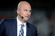 GLENDALE, AZ - SEPTEMBER 25:  ESPN analysts Matt Hasselbeck on set during the MNF broadcast prior to the NFL game between the Dallas Cowboys and Arizona Cardinals at University of Phoenix Stadium on September 25, 2017 in Glendale, Arizona.  (Photo by Jennifer Stewart/Getty Images)