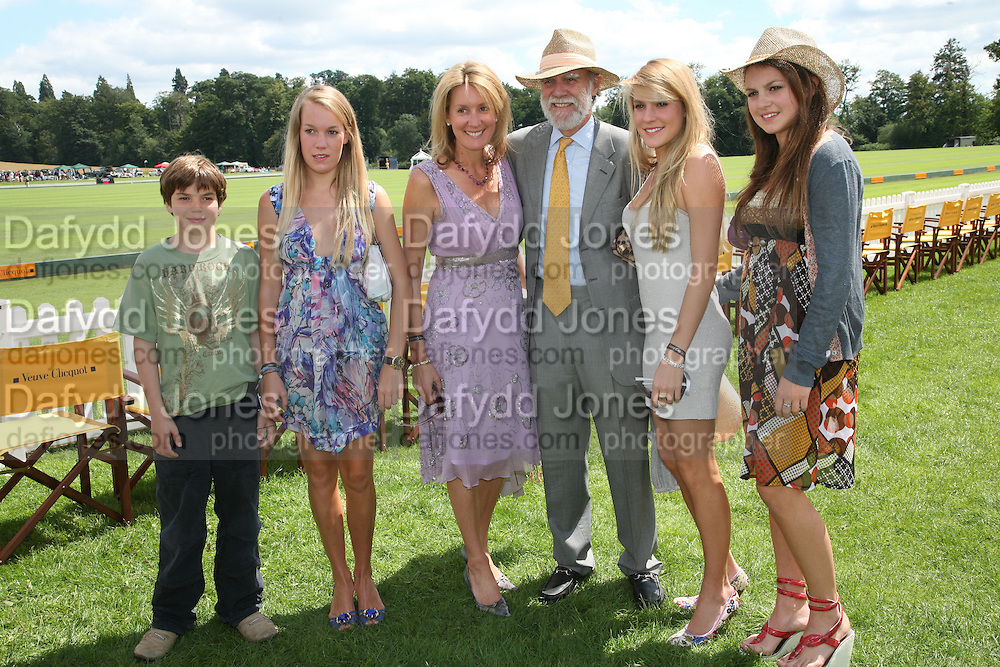 Hon Perry Pearson, Hon Emily Pearson, Viscountess and Viscount Cowdray, Hon Eliza Pearson and the Hon Catrina Pearson. The Veuve Clicquot Gold Cup 2007. Cowdray Park, Midhurst. 22 July 2007.  -DO NOT ARCHIVE-© Copyright Photograph by Dafydd Jones. 248 Clapham Rd. London SW9 0PZ. Tel 0207 820 0771. www.dafjones.com.
