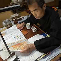 buddhist monk the first who return to Naraha close To Fukushima